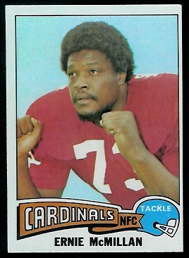 Ernie McMillan 1975 Topps football card