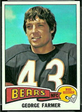 George Farmer 1975 Topps football card