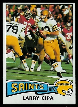 Larry Cipa 1975 Topps football card