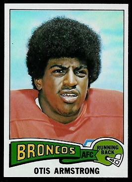 Otis Armstrong 1975 Topps football card