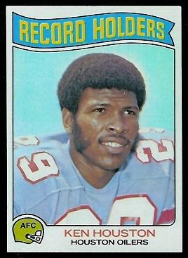 Ken Houston - Record Holder 1975 Topps football card