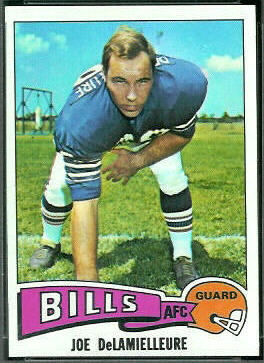 Joe DeLamielleure 1975 Topps football card