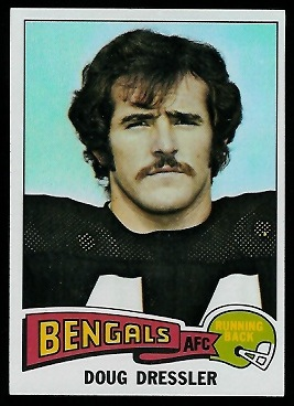 Doug Dressler 1975 Topps football card