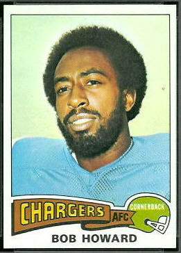 Bob Howard 1975 Topps football card