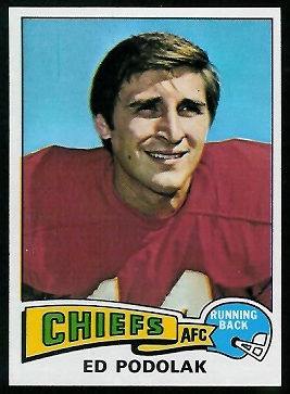Ed Podolak 1975 Topps football card
