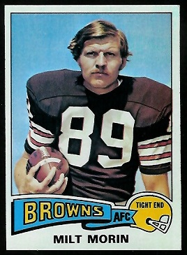 Milt Morin 1975 Topps football card