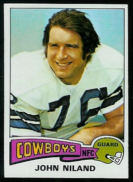 John Niland 1975 Topps football card