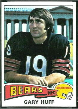 Gary Huff 1975 Topps football card