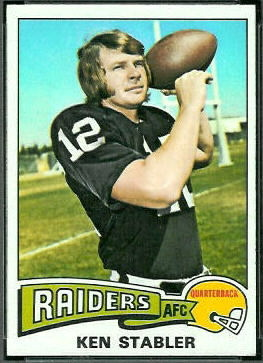 Ken Stabler 1975 Topps football card