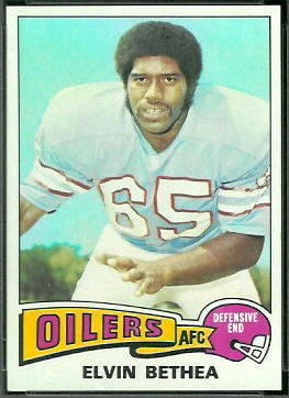 Elvin Bethea 1975 Topps football card