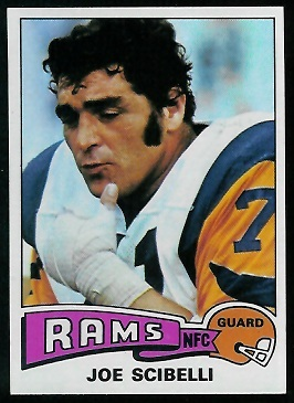 Joe Scibelli 1975 Topps football card