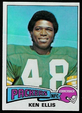 Ken Ellis 1975 Topps football card