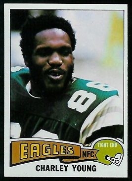 Charle Young 1975 Topps football card