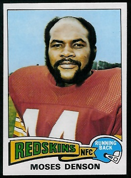 Moses Denson 1975 Topps football card