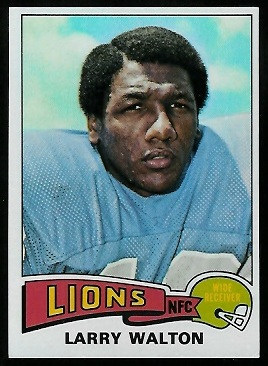 Larry Walton 1975 Topps football card