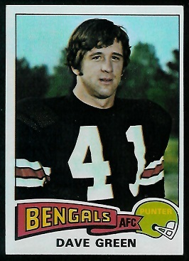 Dave Green 1975 Topps football card