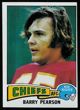 Barry Pearson 1975 Topps football card
