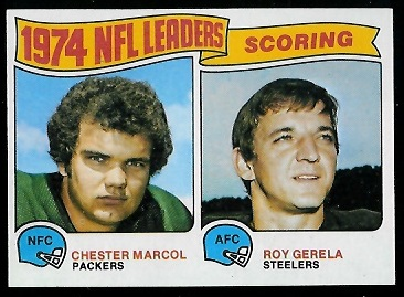 1974 Scoring Leaders 1975 Topps football card