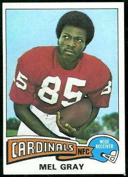Mel Gray 1975 Topps football card