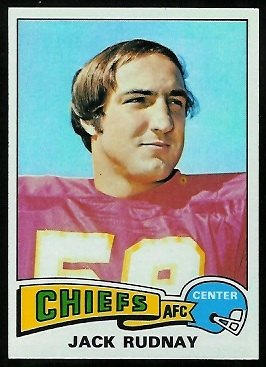 Jack Rudnay 1975 Topps football card