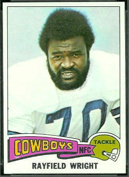 Rayfield Wright 1975 Topps football card