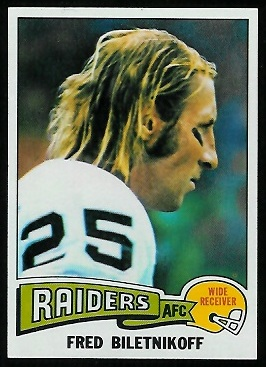Fred Biletnikoff 1975 Topps football card