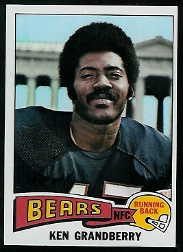 Ken Grandberry 1975 Topps football card