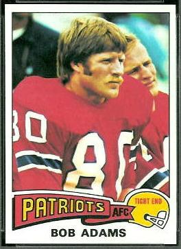 Bob Adams 1975 Topps football card