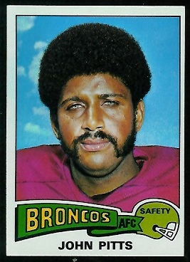 John Pitts 1975 Topps football card