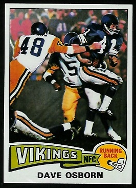 Dave Osborn 1975 Topps football card