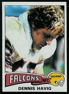 Dennis Havig 1975 Topps football card