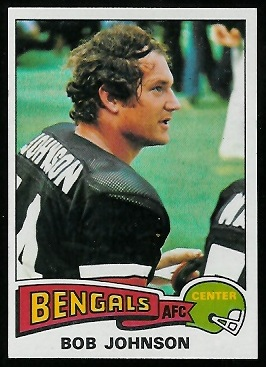 Bob Johnson 1975 Topps football card