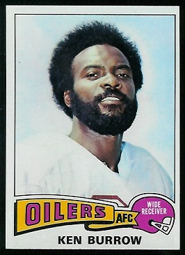 Ken Burrough 1975 Topps football card