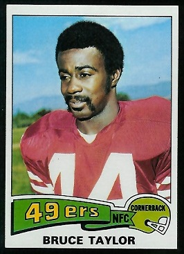 Bruce Taylor 1975 Topps football card