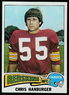 Chris Hanburger 1975 Topps football card