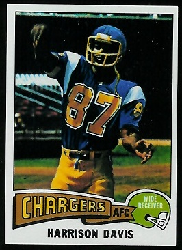 Harrison Davis 1975 Topps football card