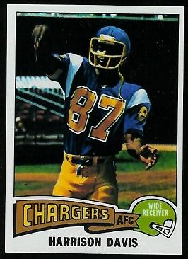 Harrison Davis 1975 Topps football card
