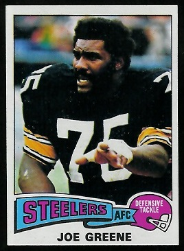 Joe Greene 1975 Topps football card