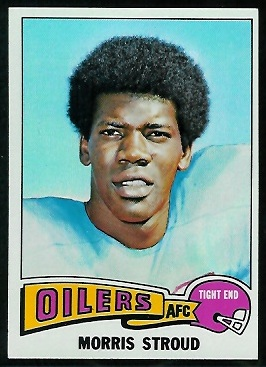 Morris Stroud 1975 Topps football card