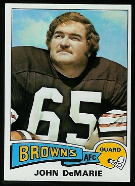 John Demarie 1975 Topps football card