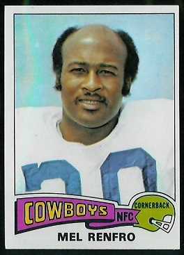 Mel Renfro 1975 Topps football card