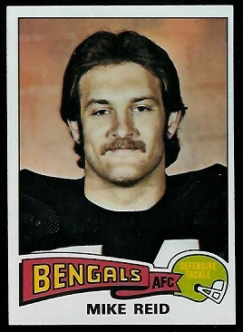 Mike Reid 1975 Topps football card