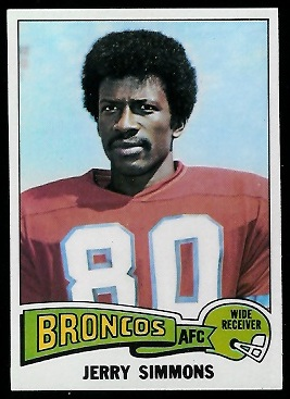 Jerry Simmons 1975 Topps football card