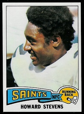 Howard Stevens 1975 Topps football card