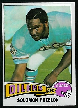 Solomon Freelon 1975 Topps football card