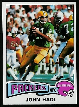 John Hadl 1975 Topps football card