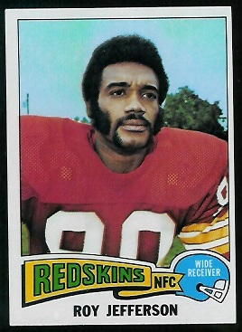 Roy Jefferson 1975 Topps football card
