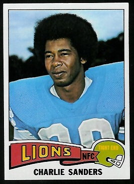Charlie Sanders 1975 Topps football card