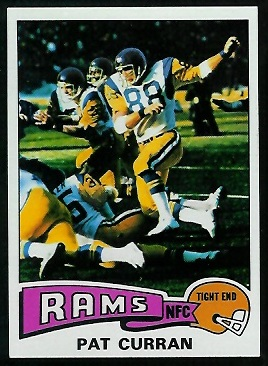 Pat Curran 1975 Topps football card