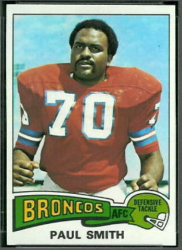 Paul Smith 1975 Topps football card